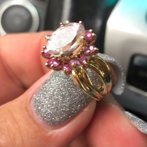 Jewelry - ✨GORGEOUS Morganite & Pink Sapphire 14K Ring ✨